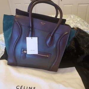 101% Authentic Celine mini Luggage tote bag
